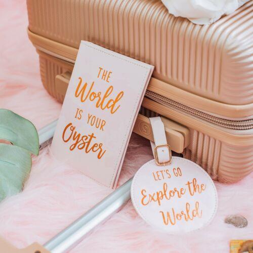 Sass /& Belle World Explorer Carte Sac à main Argent Boîte passeport Déjeuner Cadeau Sac