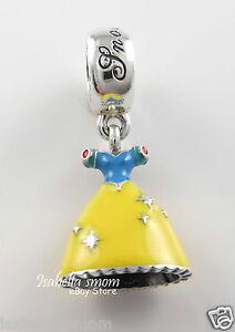 Details about Disney SNOW WHITE'S DRESS Authentic PANDORA Princess Dangle  Charm 791579ENMX NEW