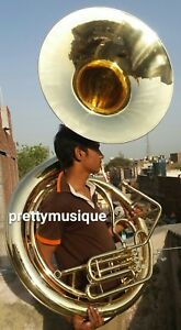 SOUSAPHONE-25-034-BIG-BELL-BRASS-MADE-IN-BRASS-POLISH-FREE-CASE-MP-FREE-SHIPPING