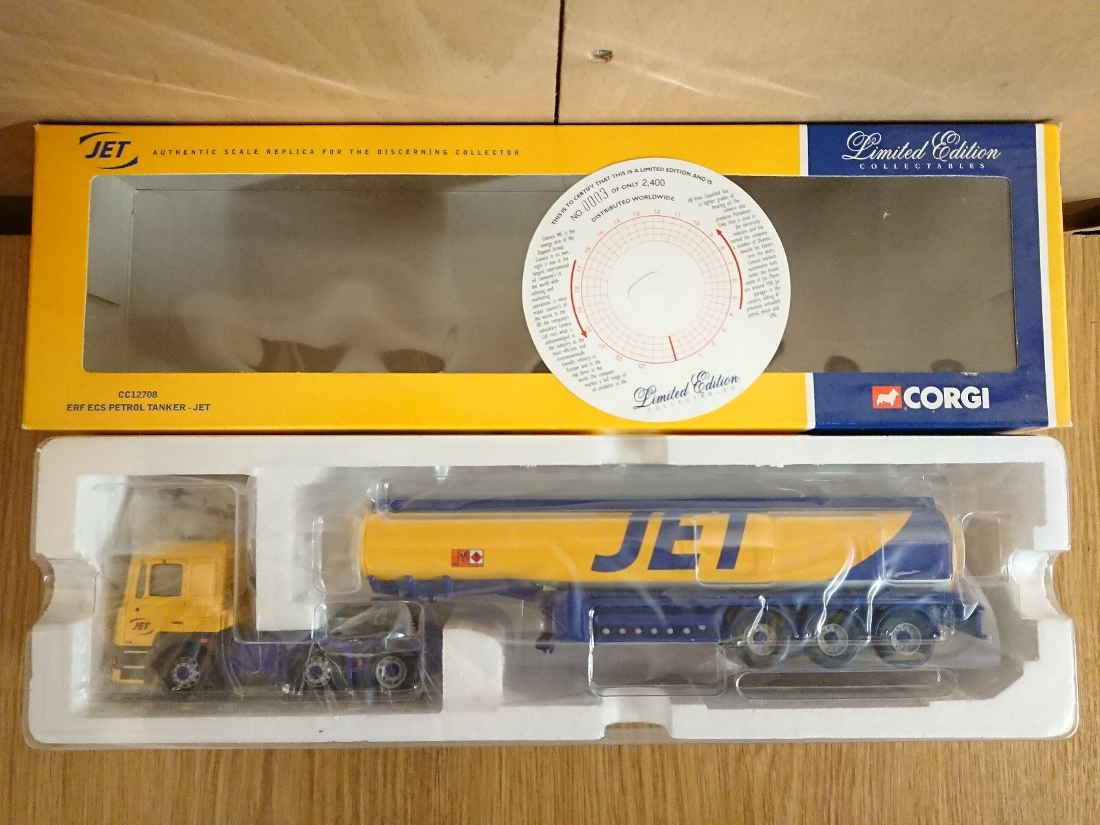 RARE Corgi CC12708 ERF ECS Petrol Tanker JET Ltd Edition No. 0003 of 2400