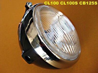 """HONDA CB100 CL100 CL100S CB125S CL125S SS50 M//Z ST90 HEAD LIGHT 6V CASE 6/"""" JAPAN"""
