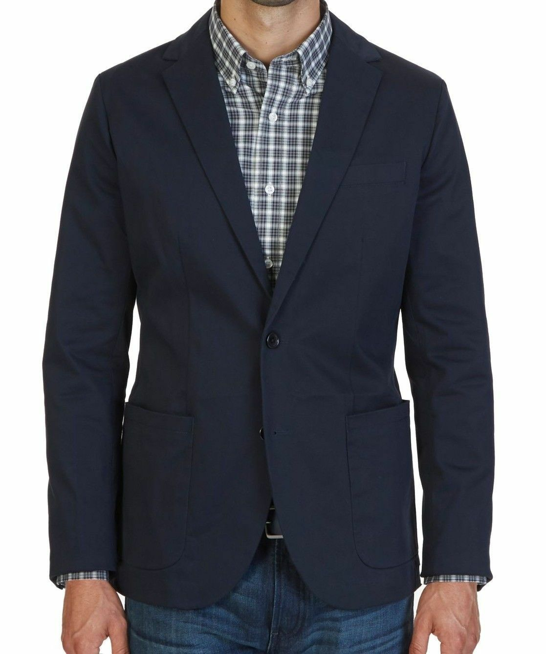 Nautica  Herren Double Navy Classic Notched-Lapel Two-Button Blazer Sportcoat L