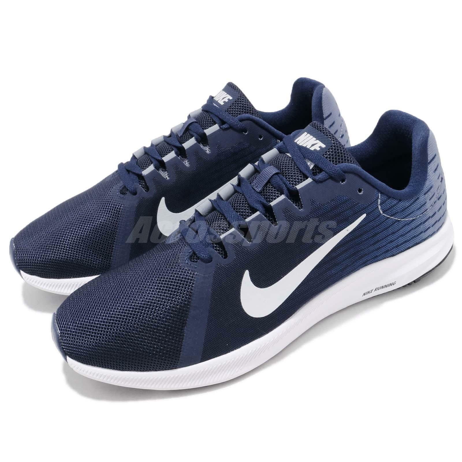 Nike Downshifter 8 VIII Bleu Void blanc homme fonctionnement chaussures Sneakers 908984-404