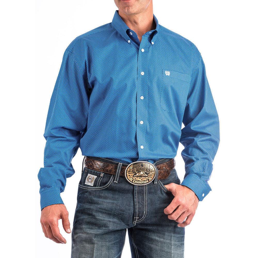 dfc00f7c59d MTW1104648 Cinch bluee Print Long Sleeve Button Down Shirt NEW Western Men s  novzrg1817-Casual Shirts   Tops