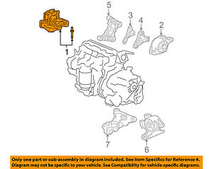 details about honda oem 07 08 fit engine motor mount torque strut 50820slna81 Chrysler Town & Country Engine Diagram