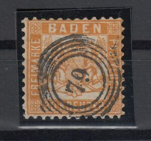 X2283-GERMANY-BADEN-MI-22-USED-CERTIFICATE-CV-3500