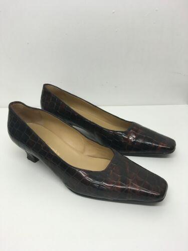 Moc Leder EU Damen Uk Brown 5 Low Schuhe Croc Heels 5 RussellBromley 38 5 SzqUVpM