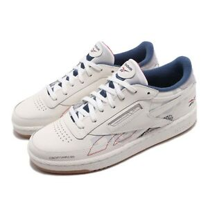 Détails sur Reebok Club C 85 ATI 90s Chalk Grey Blue Red Gum Men Casual Shoes Sneaker DV8961