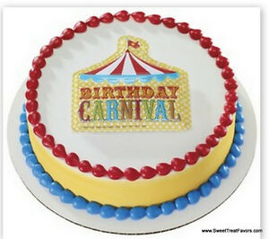 Image Is Loading CARNIVAL Cake Decoration Topper Kit Cupcake Circus Birthday