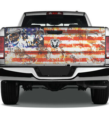 Pick-Up Truck Tailgate Wraps American Soldier With Flag Born Free