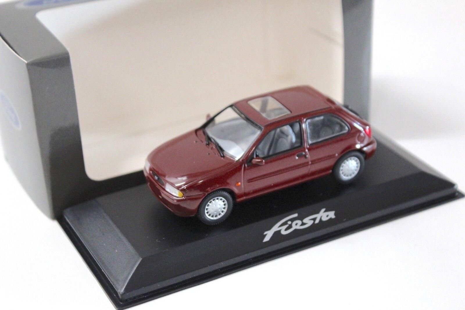 1 43 Minichamps Ford Fiesta Ghia 1996 Dark rouge Dealer New chez Premium-modelcars