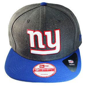 a7cbc0a3 New Era NFL Classic New York Giants 9FIFTY Snapback Hat Grey Blue ...