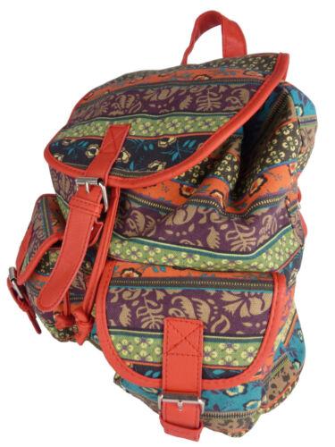 à 7021 Style Tissu Sac À Ethnique Canvas Dos En Vintage Multicolore Rétro Sac w7xAC4qtC