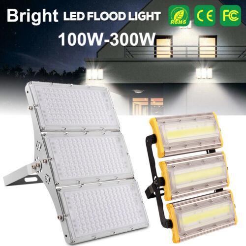 300W 200W 100W COB//SMD LED Flood Light Bulb Bright Garden Outdoor Wall Spotlight