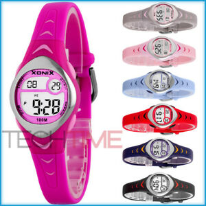 XONIX-WR100M-Women-039-s-and-girls-039-small-digital-watch-waterproof-colourful