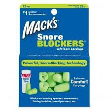 Mack's Snore Blockers Soft Foam Earplugs with Canister -12 pair (GREEN)