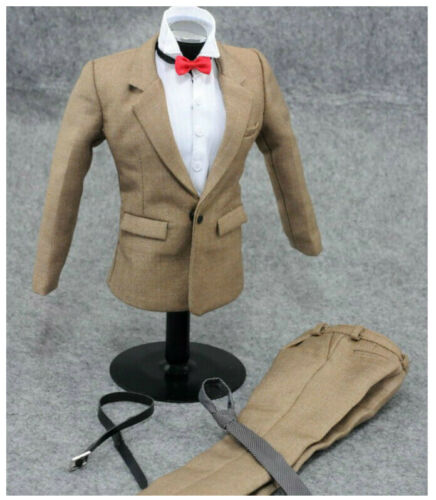 """1//6 scale Khaki Color Business Suit Set For 12/"""" Hot Toys Worldbox Male Figure"""