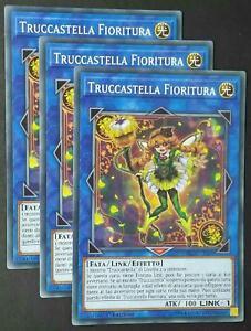 Set 3X  TRUCCASTELLA FIORITURA  Comune in Italiano  FLOD-IT039 YUGIOH