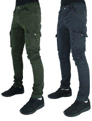 FASHION G il tempo è denaro denim Peviani Designer Cargo Combat Uomo Star Jeans