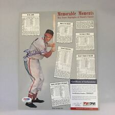 Stan Musial Signed Autographed Memorable Moments 8x10 Photo PSA DNA COA