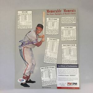 Stan-Musial-Signed-Autographed-Memorable-Moments-8x10-Photo-PSA-DNA-COA