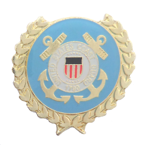 United States US Coast Guard Solid Wreath Pin Badge