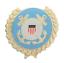 縮圖 1 - United States US Coast Guard Solid Wreath Pin Badge