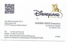 Euro Disney Disneyland carte visite BARBER SHOP Main Street NEW facebook TTB