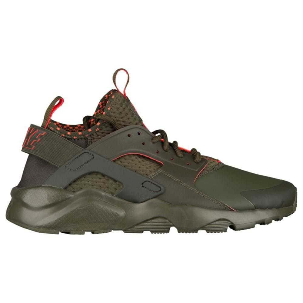 Nike Air Huarache Run Ultra SE Mens 875841-301 Cargo Khaki Crimson shoes Sz 7.5