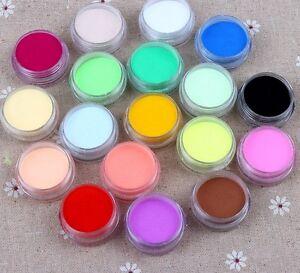 Nail Art 12 Polvo cristalino acrílico coloreado del polímero_S