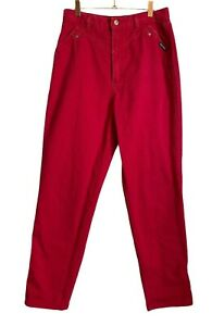 80/'s jeans Jeans registered cowgirl cowgirl trousers red with black band red