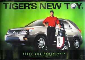 2002-Buick-Rendezvous-TIGER-WOODS-Advertising-Poster