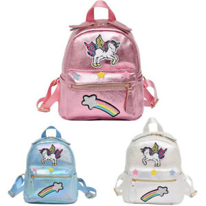 Image is loading GIRLS-Sequin-Unicorn-Backpack-Girls-College-School-Bag- b90a99deacfee