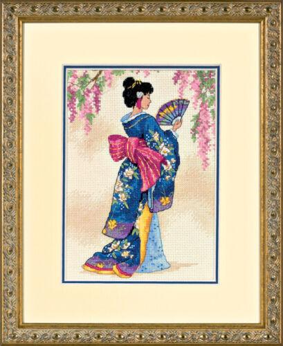 Dimensiones ~ oro ~ puntada cruzada contada Kit ~ ~ Geisha elegante D06953
