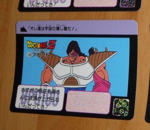 DRAGON BALL Z GT DBZ HONDAN PART 5 CARDDASS BP CARD REG CARTE 198 JAPAN 1990 **