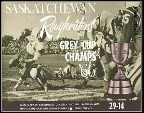 CFL 1966 Saskatchewan Roughriders Grey Cup /& Regina Rams Champs 8 X 10 Photo