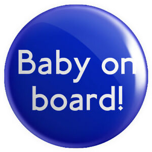 Baby on Board Badge 25mm 1 INCH Colourful Pregnant Mum Baby Button Pin Badge