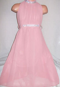 GIRLS-PASTEL-PINK-DIAMONTE-GRECIAN-FULL-LENGTH-CHIFFON-MAXI-DRESS-with-TIE-BELT