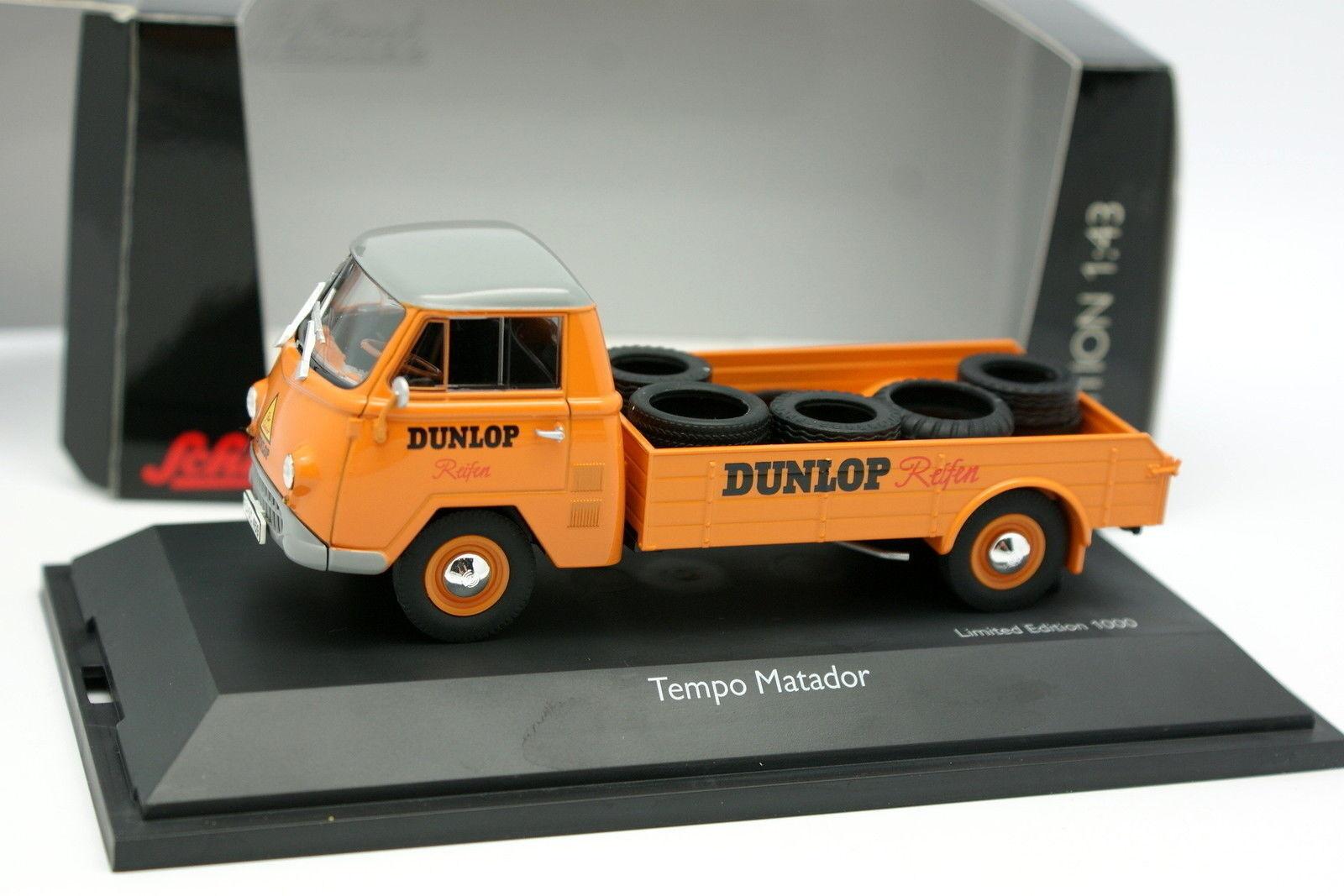 Schuco 1 43 - Matador De Tempo Dunlop Reifen Neumáticos