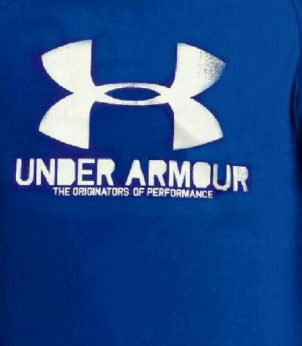 Under Armour Mens Deep Blue Poly Dry Distressed Logo Performance Shirt