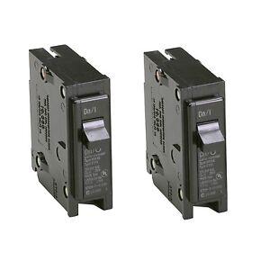 2x Eaton 15Amp Bryant BR Trip Fuse Box SinglePole Light Circuit
