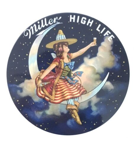 Miller High Life Girl In The Moon Metal Sign