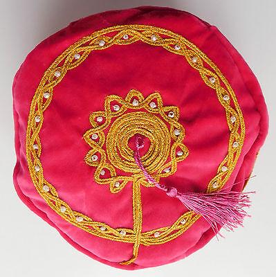 Smoking hat (thinking cap) Pink Tassel Oriental stage casual S M L XL XXL 3XL