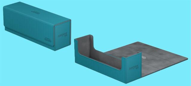 ULTIMATE GUARD ARKHIVE PETROL XENOSKIN FLIP 400+ DECK CASE Card Storage Box MTG