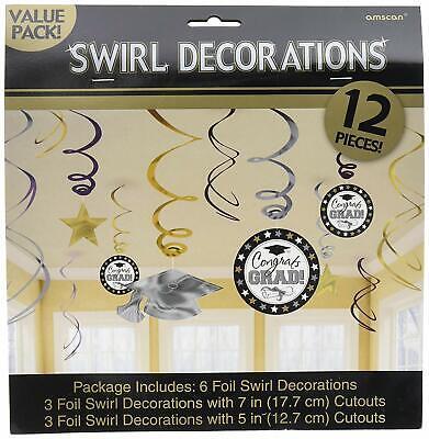 GRADUATION WALL CUTOUTS Party Decorations Gold Silver Black Stars Grad Congrats