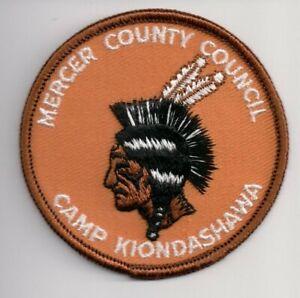 P BSA Patch, Camp Kiondashawa, ORG Bckd, Mercer County ...