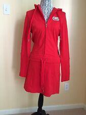 New Women  ECKO RED  hooded Sweatshirt Dress Size M