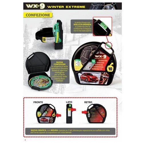 Catene da Neve 9mm Lampa WX-9 Chevrolet Matiz Gruppo 2 gomme 155//65r13 GD02002