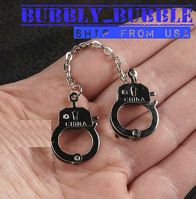 """1//6 Police Metal Handcuffs For Joker Prisoner Scene 12/"""" Phicen Hot Toys Figure"""