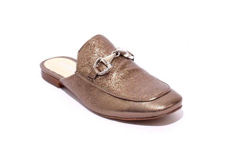 Les Trois Garcons 55060a Cuero Hebilla del estaño Sandalias Zapatos Mulas 37 US 7